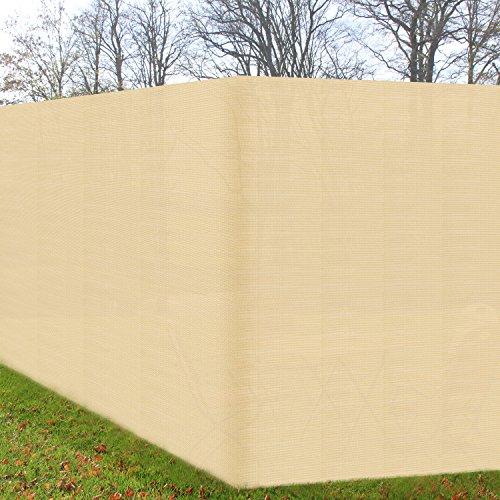 Zaun-Sichtschutz 500x180cm Creme - Zaunblende UV-Schutz & Befestigung witterungsbeständiger Windschutz