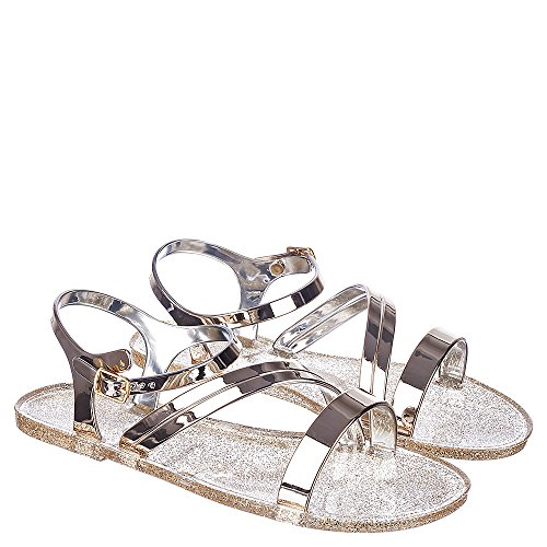 Sandalo Di Bambù Tinta-01 Oro