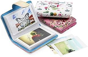 CAIUL Compatible Cubierta de PU Mini Álbum Dedicado a Cámaras Instax Mini 9 8 8+ 90 70 7s 25 26 50s, Polaroid PIC-300 Z2300, Tarjetas de crédito(20 ...
