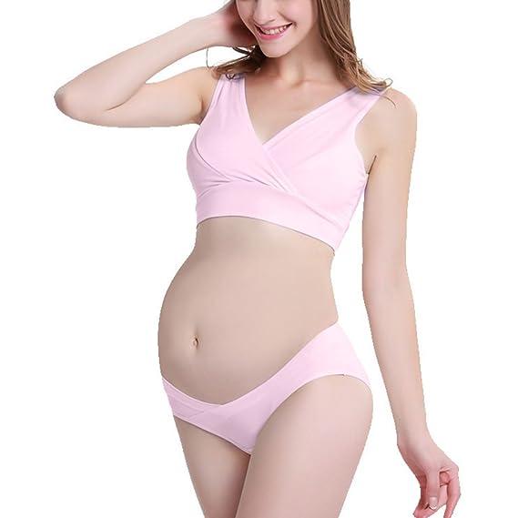 0f9e331695d7d Samber Comfortable Maternity Underwear Set Postpartum Breastfeeding Bra Set  Pregnant Women Nursing Bra & Panty Soft