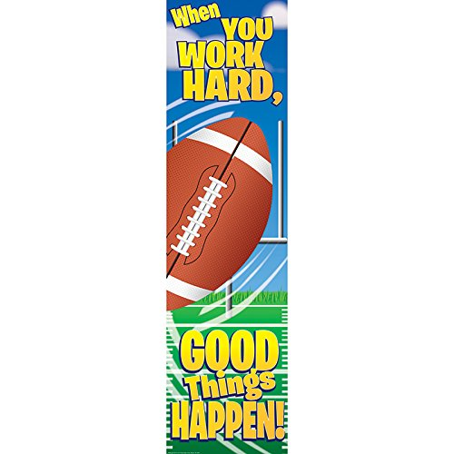 Eureka Football Motivational Banner, Measures 45 x 12, Great for Classrooms, Kids Rooms, Parties & More