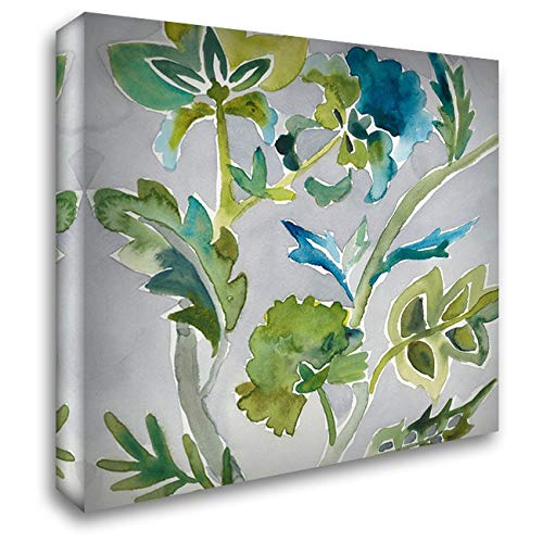 Batik Vines I 40x40 Extra Large Gallery Wrapped Stretched Canvas Art by Zarris, Chariklia ()
