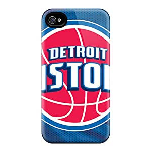 Williamwtow Case Cover Protector Specially Made For Iphone 4/4s Detroit Pistons