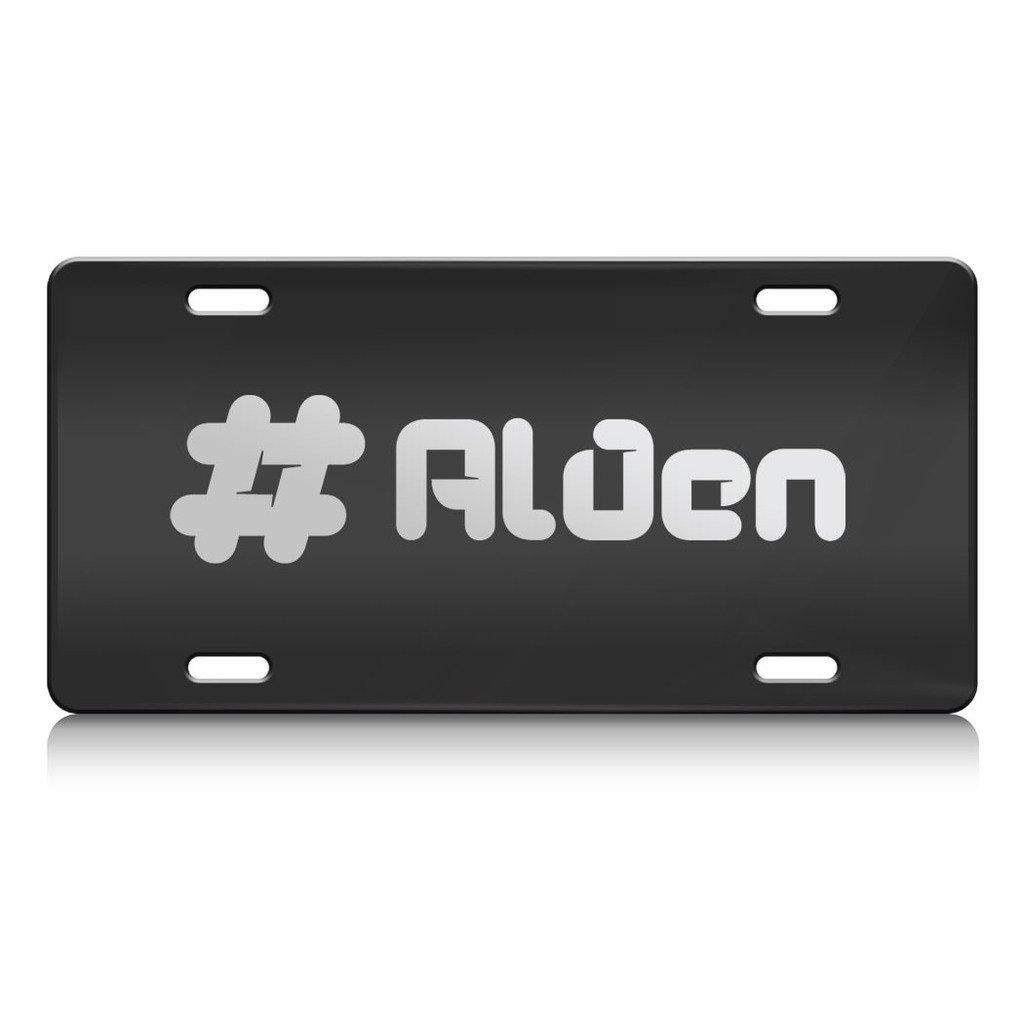 ALDEN Stecker Name Metall Nummernschild Rahmen schwarz Farbe (Silber ...