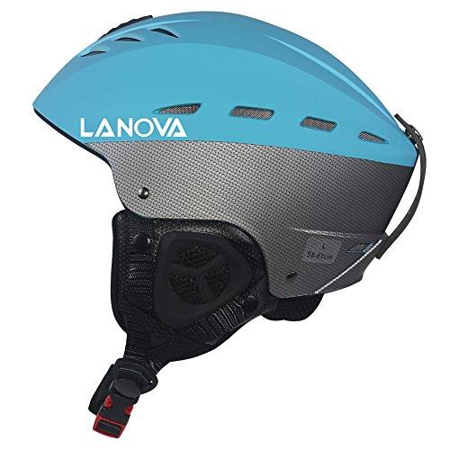 Lanova Ski Snow Snowboard Skate Helmet for Men Women (Blue, L) ()