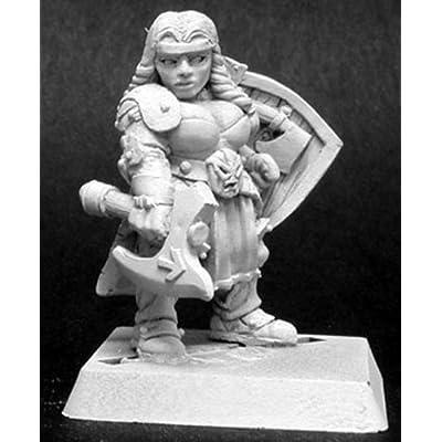 Reaper Freja Fangbreaker Dwarf Sergeant Miniature 25mm Heroic Scale Warlord Miniatures: Toys & Games