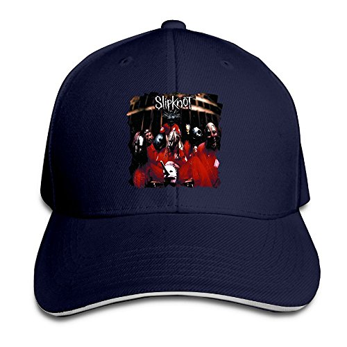 UrsulaA Adult Slipknot Reversed Baseball Hat Navy ()