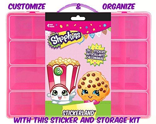 [Official Shopkins Sticker Book + Mini Figures Compatible Storage Organizer. Stores Up to 100 Shopkins Mini Figures. Customize Your Children's Storage Box With This 295 Sticker] (Baby Blossom Costume)