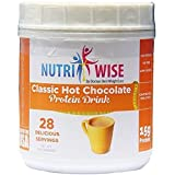 NutriWise - High Protein Diet Drink | Hot Chocolate Canister | Low Calorie, Low Fat, Low Sugar