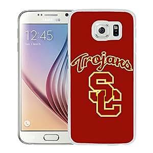 NCAA USC Trojans 04 White Popular Custom Design Samsung Galaxy S6 G9200 Phone Case