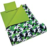 Wildkin Original Sleeping Bag, Features Matching Travel Pillow and Coordinating Storage Bag, Perfect for Sleeping On-the-Go – Green Camo