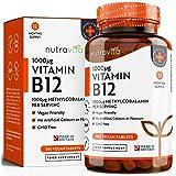 Vitamina B12 1000 mcg Comprimidos veganos de Methylcobalamin 365 | Hecho en el Reino Unido por