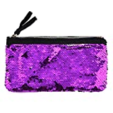Clearance! Women Make-up Bag Double Color Sequins Coin Cards Holder Purse Wallet Pencil Pouch (I)