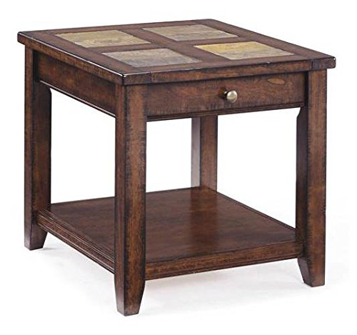 Magnussen Allister T1810-03 Wood Rectangular End Table (Magnussen Table End Cherry)