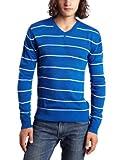 Southpole Men's Stripe Long-Sleeve V-Neck Pullover Sweater