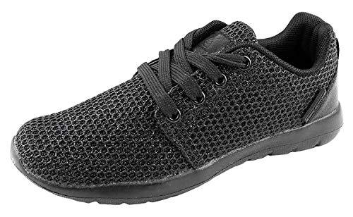 - YILAN Women's Fashion Sneakers Breathable Sport Shoe Black Sparkle 6 M US
