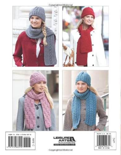 Crochet easy hat and scarf patterns