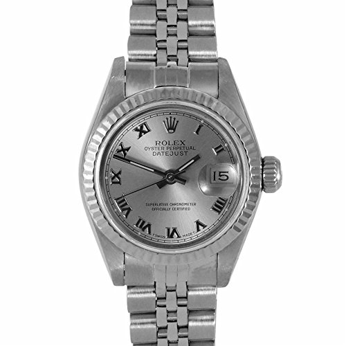 Rolex Ladies 26mm Ladies Datejust Watch - 6917 Model - Stainless Steel - Silver Roman Dial - Fluted Bezel - Jubilee Band