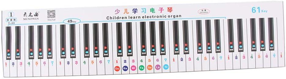 Teclado Electrónico Piano Nota Calcomanía Etiqueta Para 49/61 ...