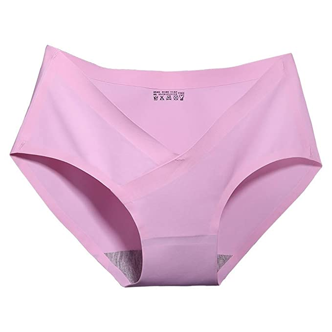 Huyizhi Calzoncillos de Mujer Ropa Interior de Mujer de Color Lila Ropa Interior Embarazada Ropa Interior