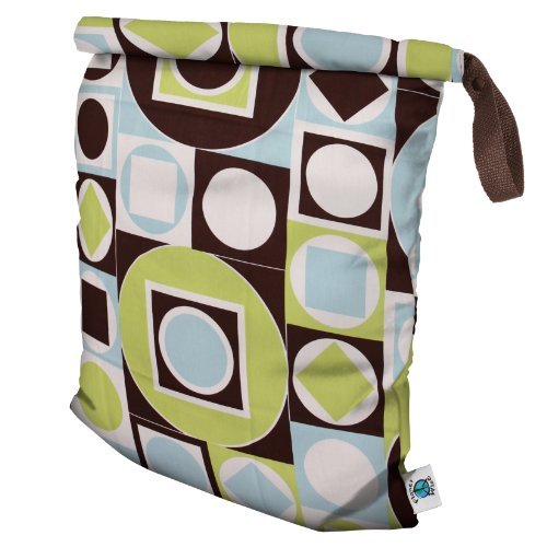Planet Wise Roll Down Wet Diaper Bag, Geometric Studio, Large
