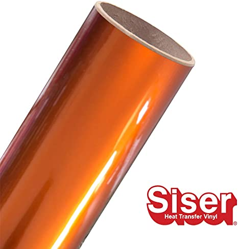 Amazon Com Siser Easyweed Htv 15 X 10ft Roll Iron On Heat Transfer Vinyl Electric Orange