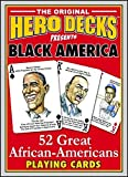 Black America 52 Great African Americans Hero Deck Playing Cards