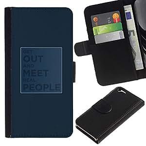 All Phone Most Case / Oferta Especial Cáscara Funda de cuero Monedero Cubierta de proteccion Caso / Wallet Case for Apple Iphone 6 // Get out and meet real people