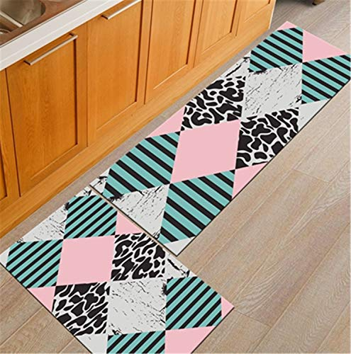 Nordic Geometric Creative Kitchen Mat Anti-Slip Bathroom Carpet Slip-Resistant Washable Entrance Door Mat Hallway Floor Area Rug Mat16 40x60cm
