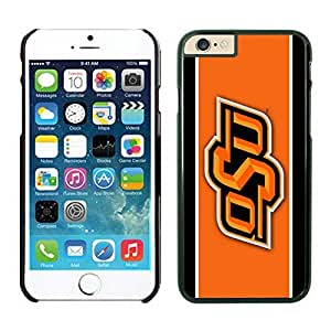 iPhone 6 Cover Case NCAA-big12 Oklahoma State Cowboys 7 Black TPU Phone Case For Apple iPhone 6 4.7 Inches