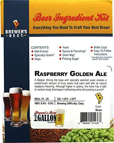 Brewer's Best One Gallon Home Brew Beer Ingredient Kit (Raspberry Golden Ale) by Brewer's Best