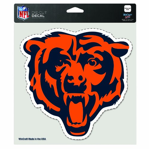 (NFL Chicago Bears Diecut Colored Decal Bear Logo)