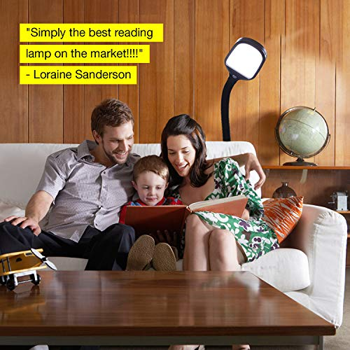 Brightech Litespan LED Bright Reading and Craft Floor Lamp - Modern Standing Pole Light - Dimmable, Adjustable Gooseneck Task Lighting Great in Sewing Rooms, Bedrooms - Black by Brightech (Image #6)