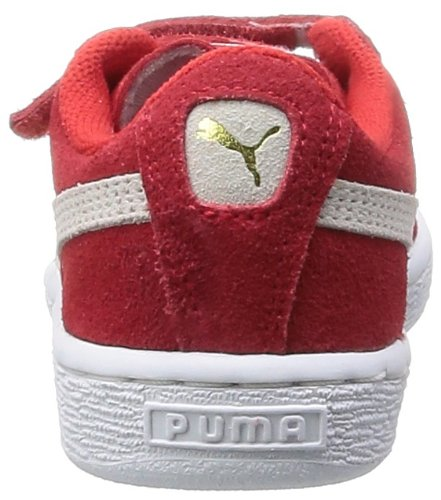 rischio bambini Puma Rosso Suede cinturini bianco basse 2 ad per Inf alto Rosso Sneakers r00Fw7nqS