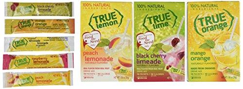 Free Samples Vitamins - True Black Cherry Limeade, Peach Lemonade, & Mango Orange, 10-count (3pk) with 5 FREE Lemonade Sample Sticks