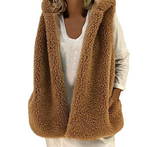 (HYIRI Sleeveless Fleece Hoodie,Women's Ladies Winter Pocket)