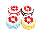 WELLCOME!! This Squeezed Cake is super soft, super cute.  Every customer are love it! It stands almost 5 inches tall and about that much wide. The sides are amazingly textured, you would think you are touching a Cake with all the nooks and crannies. ...