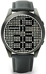 Phosphor Men's MD007G Appear Collection Fashion Crystal Mechanical Digital Watch