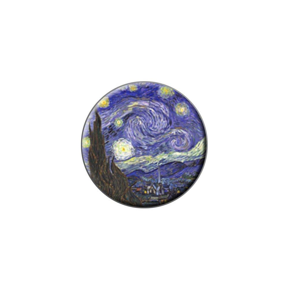 Graphics and More Nuit étoilée par Vincent van Gogh en métal Pin's Chapeau pour homme Sac à main Sac broches Cravate Tack Pinback