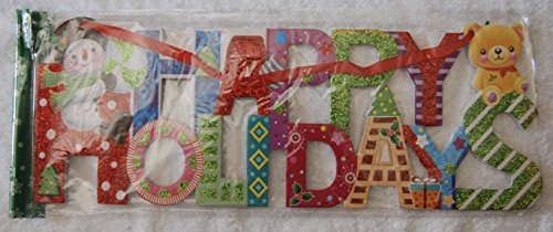 NEW COLORFUL HAPPY HOLIDAYS Door or Wall Decor
