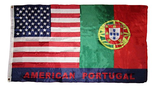 Bravo Rescue Knife (ALBATROS 3 ft x 5 ft USA American Portugal Friendship Premium Quality Flag Banner Grommet for Home and Parades, Official Party, All Weather Indoors Outdoors)