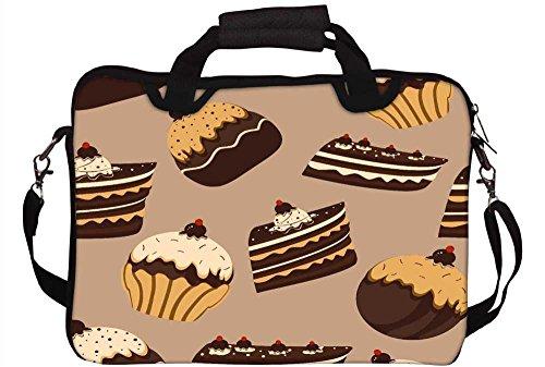 Snoogg Abstraktes Kuchen Muster 30,5cm 30,7cm 31,8cm Zoll Laptop Notebook Computer Schultertasche Messenger-Tasche Griff Tasche mit weichem Tragegriff abnehmbarer Schultergurt für Laptop Tablet PC
