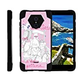 ZTE Kirk Case | Imperial Max Case | Max Duo Case [Dynamic Shell] Duo Protection Hybrid Case Impact Rubber Cover Hard Kickstand Cool Designs by TurtleArmor - Pink Teddy Bear