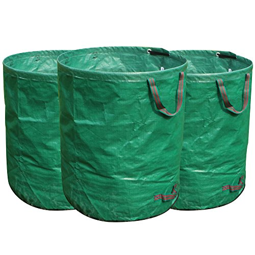 FLORA GUARD 3-Pack 72 Gallons Garden Waste Bags – Heavy Duty Compost Bags with Handles