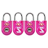 TSA Compatible Travel Luggage Locks With Key, Alloy body with Steel Shackle, Keyed Lock