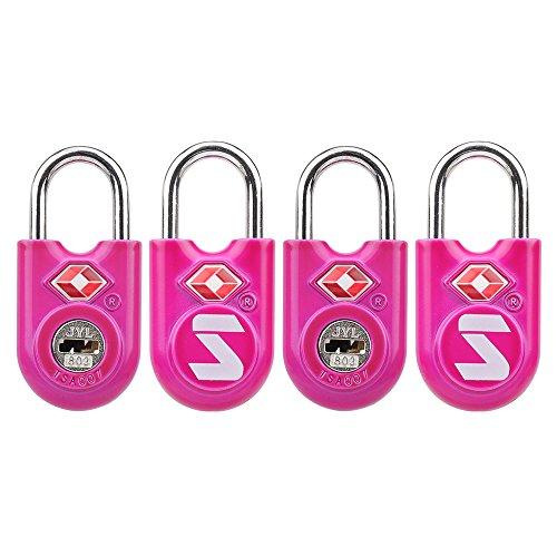 SURE LOCK TSA Compatible Travel Luggage Locks With Key, Alloy body with Steel Shackle, Keyed - Key Luggage Lock