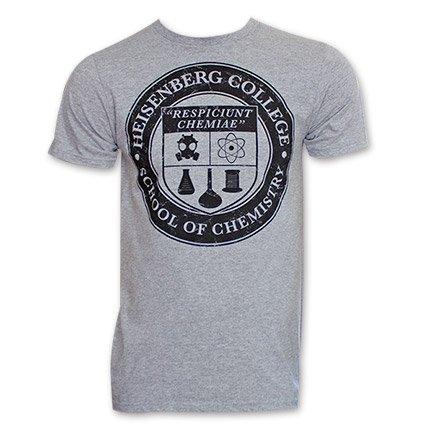Heisenberg Breaking Bad College Tee Grey