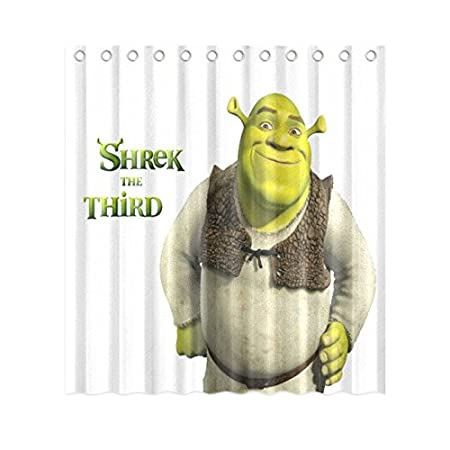 Shrek The Third Shower Curtain White And Multicolor Design 48quot