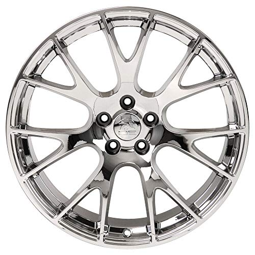 Partsynergy Replacement For Chrome Wheel Rim 22 Inch Fits 11-18 Dodge Ram 1500 Hellcat Style 22x10 7 Double Spoke