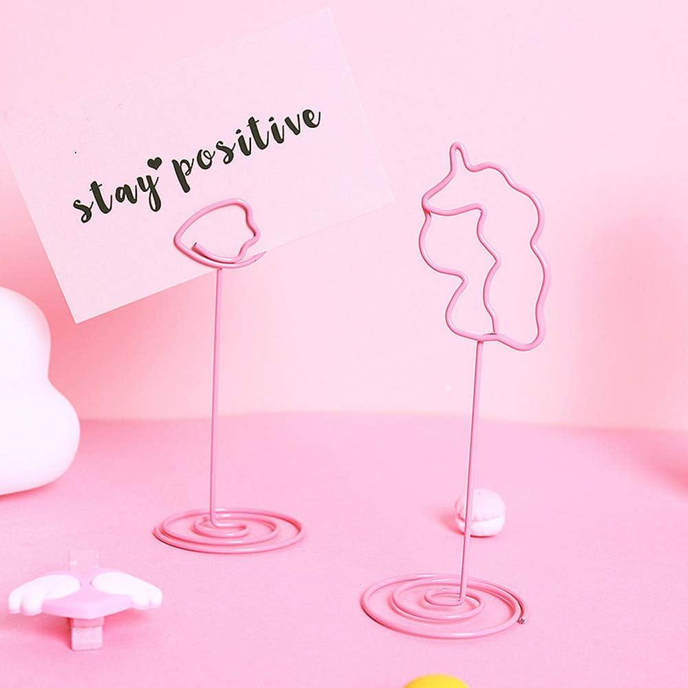 einhorn clip, liebe clip, flamingo clip 12 St/ück Memo Clip Fotohalter Clips Restaurants und Partys Herz Kartenhalter Hochzeit f/ür Bildnotizen zu Hochzeiten